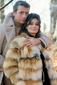 Anouk Aimée and Yves Montand