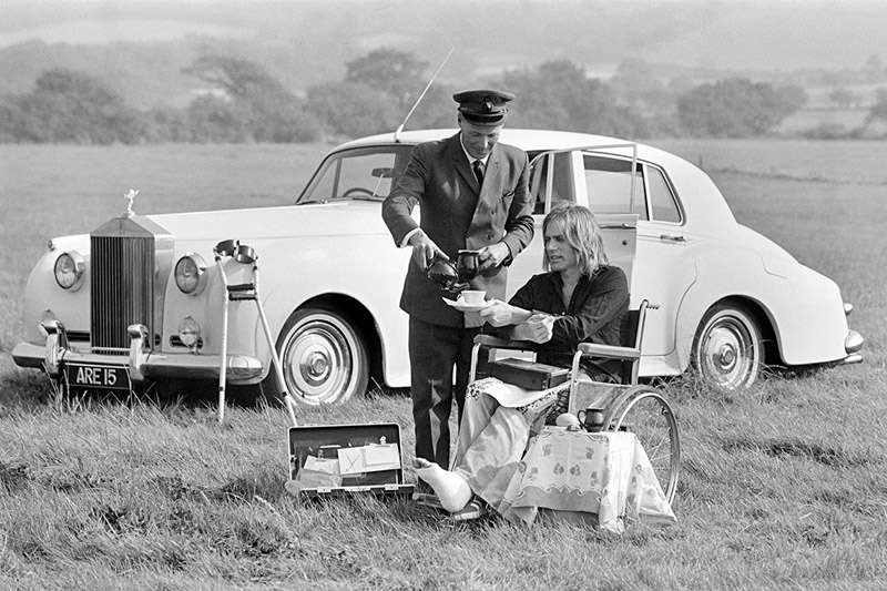 Adam Faith and his chauffeur