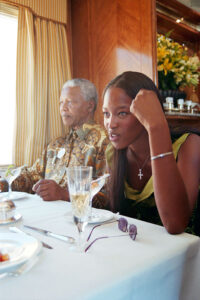 Nelson Mandela and Naomi Campbell