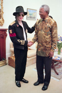 Nelson Mandela with Michael Jackson