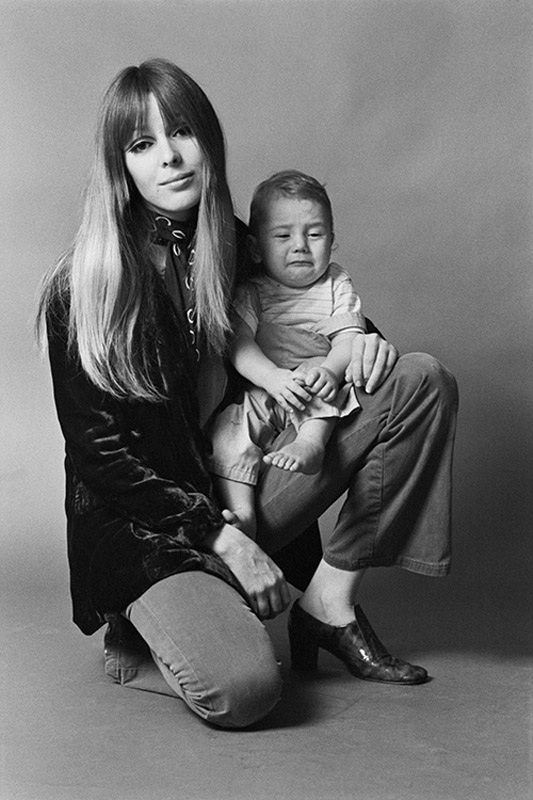 Catherine James and her baby son