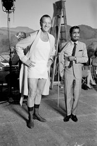 David Niven and Sammy Davis Jr