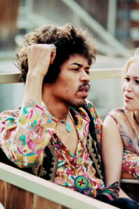 Jimi Hendrix and Carmen Borrero