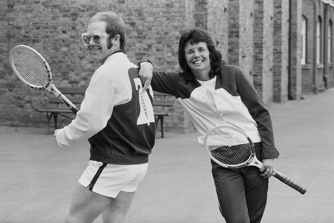 Elton John and Bille Jean King