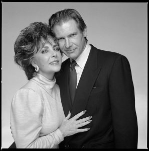 Elizabeth Taylor and Harrison Ford