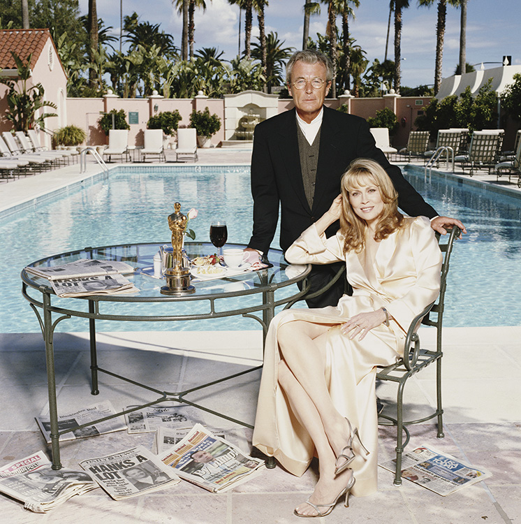 Faye Dunaway and Terry O'Neill