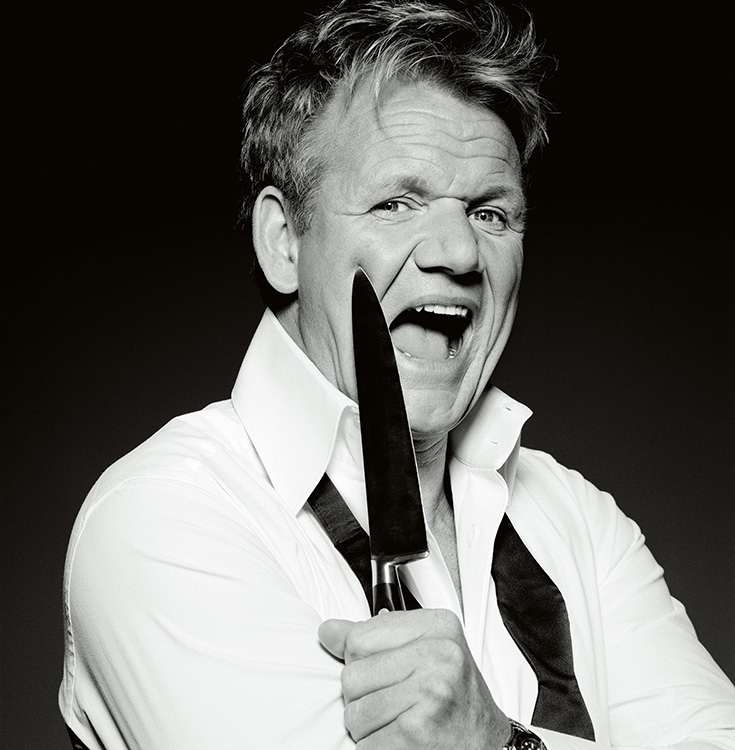 Gordon Ramsay with knife