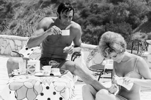 George Lazenby and Jill St John