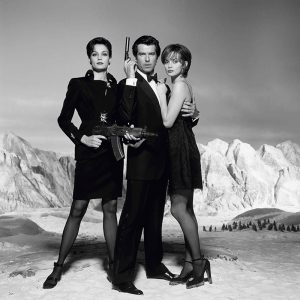 Pierce Brosnan, Izabella Scorupco and Framke Janssen