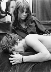 Jean Shrimpton and Paul Jones
