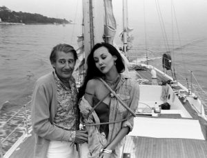 Helmut Newton and  Marie Helvin