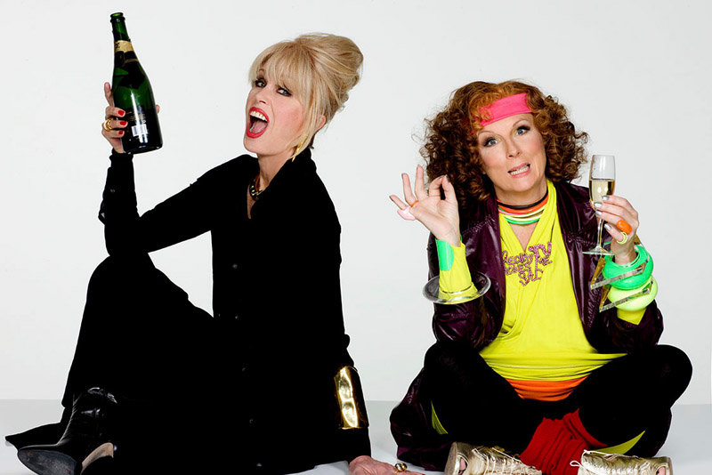 Joanna Lumley and Jennifer Saunders