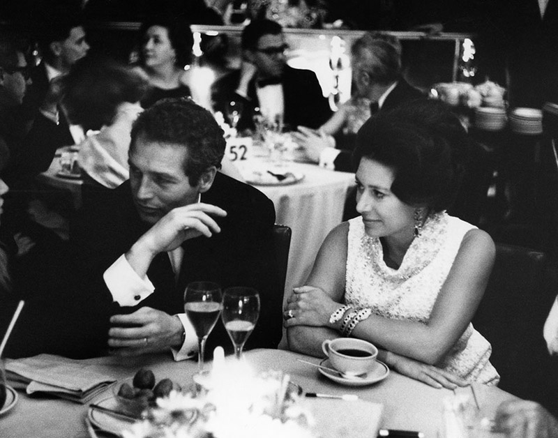 HRH Princess Margaret and Paul Newman
