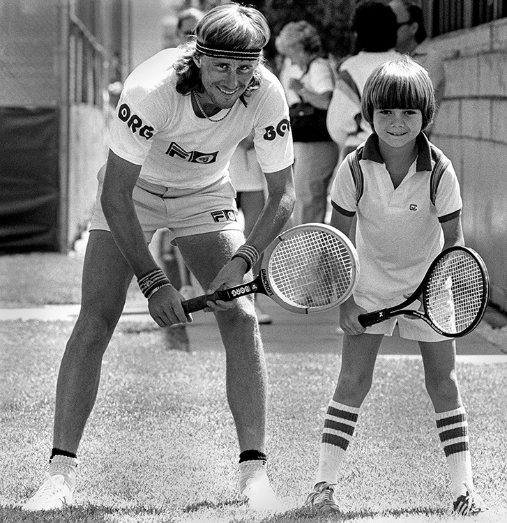 Bjorn Borg and Andre Agassi