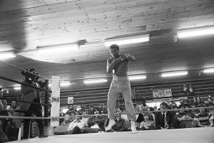 Muhammad Ali at the training camp