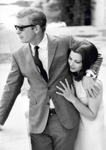 Michael Caine and Giovanna Ralli