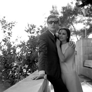Michael Caine and Giovanna Ralli.