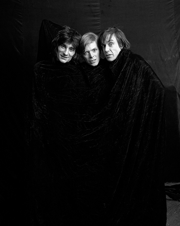 Ron Wood, David Bowie & Iggy Pop