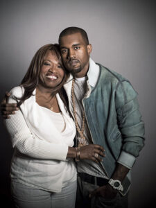 American musician Kayne West and his mother Dr. Donda West