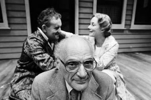 Arthur Miller with Colin Blakely and Rosemary Harris