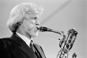 Gerry Mulligan at Knebworth Jazz Festival