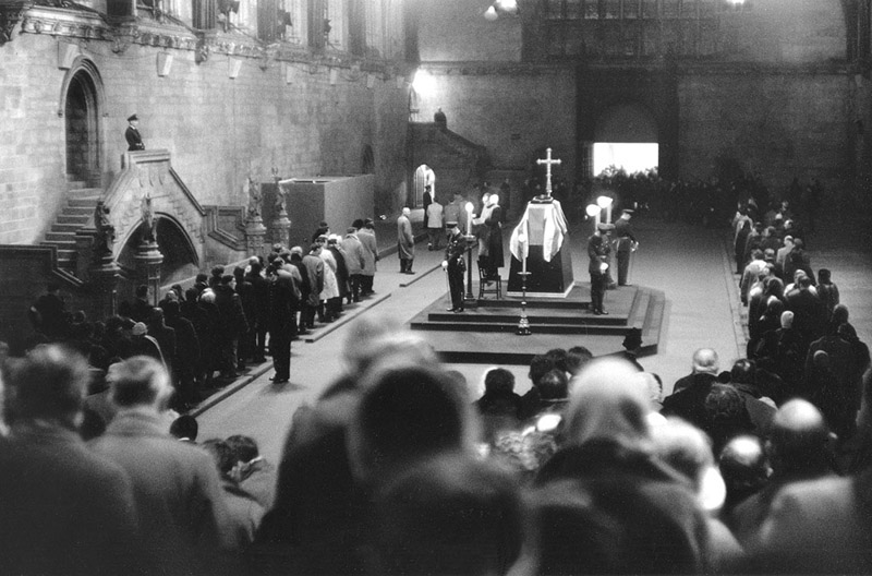 Sir Winston Churchill's lying in state