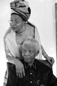 Neslon Mandela and his wife Graça Machel