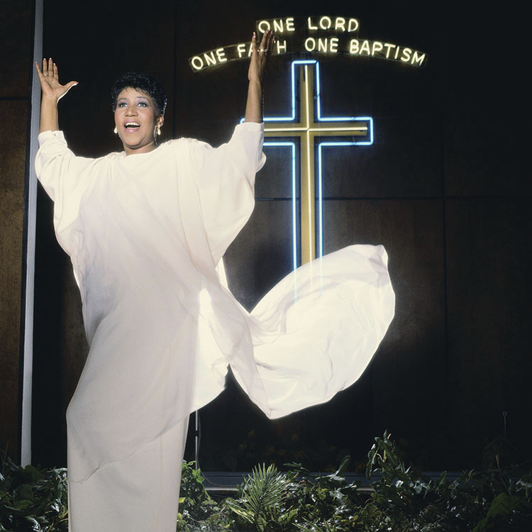 Aretha Franklin and Neon Cross
