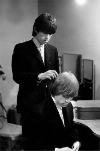 Brian Jones and Keith Richards