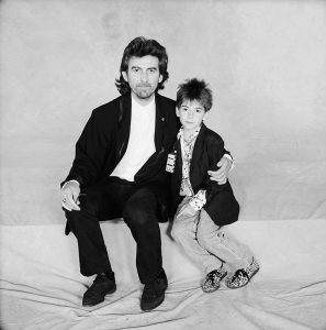 George Harrison and son