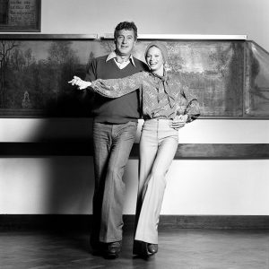 Julia Prouwse and Rock Hudson