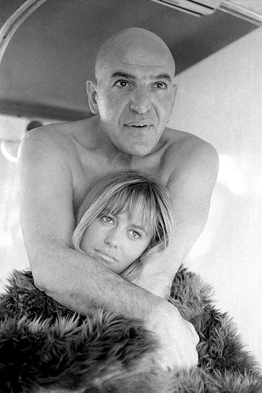 Susan George and Telly Savalas
