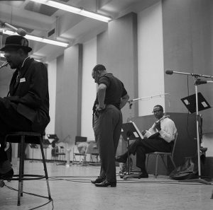 Count Basie at the recording studio