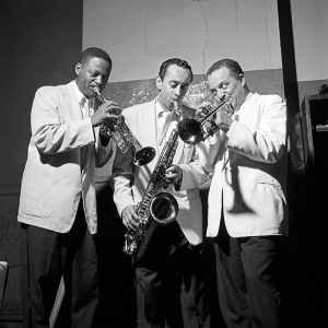 "Clark Terry, Paul Gonsalves and Harold ""Shorty"" Baker."