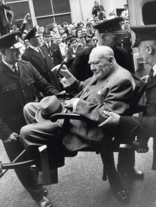 Churchill Leaves Hospital